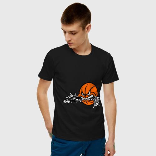Мужская футболка хлопок Мячик Фото 01