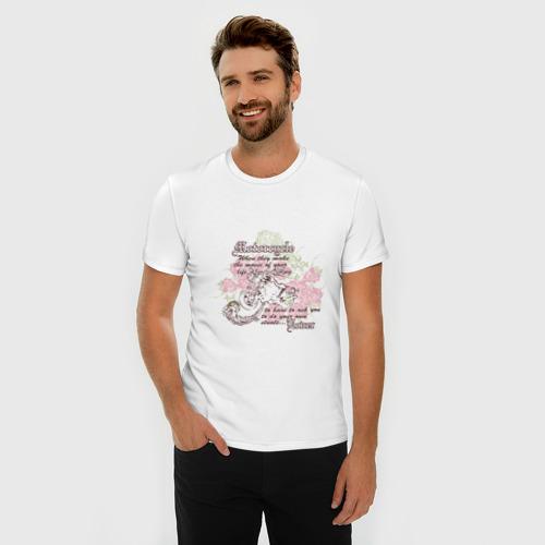 Мужская футболка премиум  Фото 03, Мото и розы