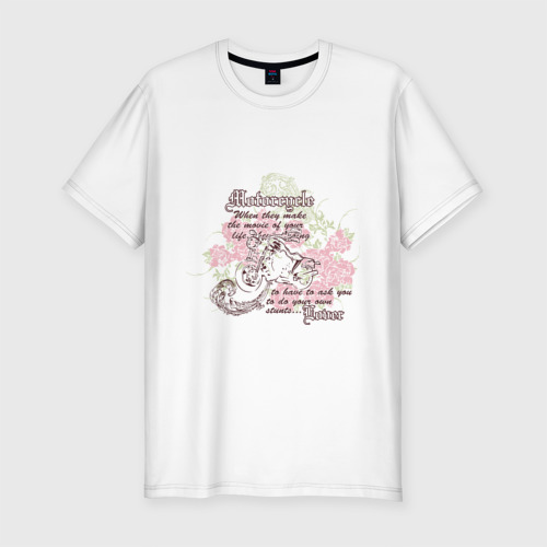 Мужская футболка премиум  Фото 01, Мото и розы