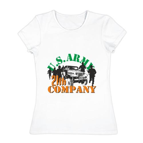 Женская футболка хлопок  Фото 01, Us army
