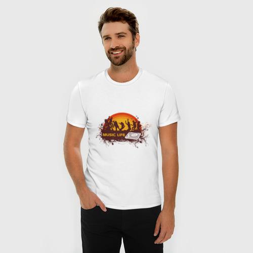 Мужская футболка премиум  Фото 03, Music Life