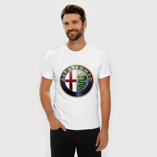 Мужская футболка премиум  Фото 03, Альфа Ромео