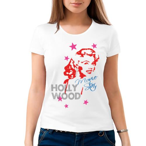 Женская футболка хлопок  Фото 03, Hollywood star