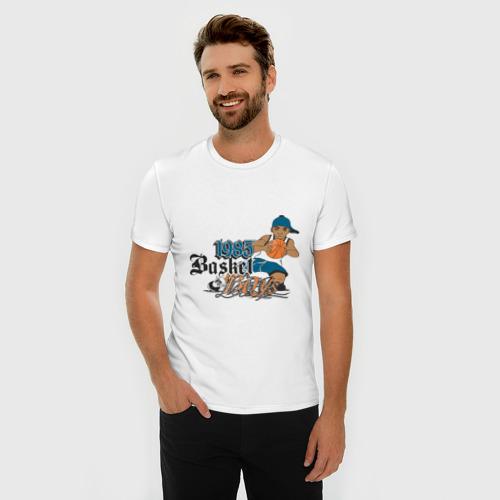 Мужская футболка премиум  Фото 03, Баскетболист