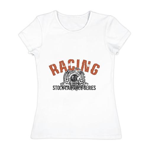 Женская футболка хлопок  Фото 01, Racing