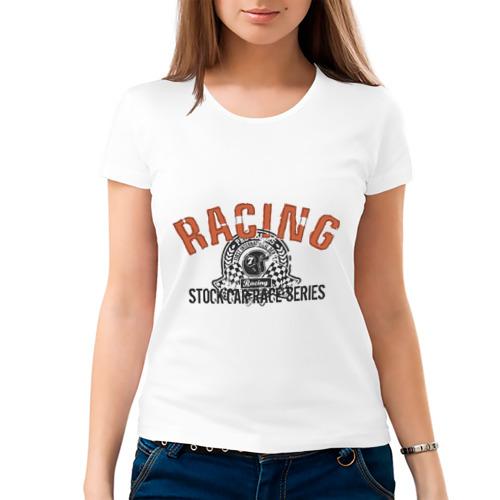 Женская футболка хлопок  Фото 03, Racing