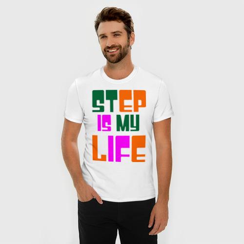 Мужская футболка премиум  Фото 03, DNB step (2)