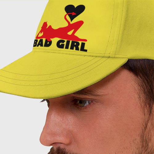 Бейсболка Bad girl with heart