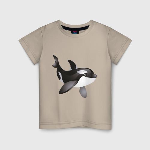 Купить Детская футболка хлопок Дельфинчик 128, VseMayki.ru, Россия, Детские