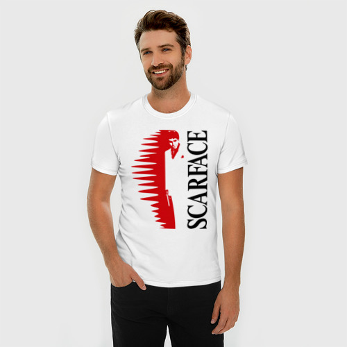 Мужская футболка премиум  Фото 03, Аль Пачино - Scarface (white)