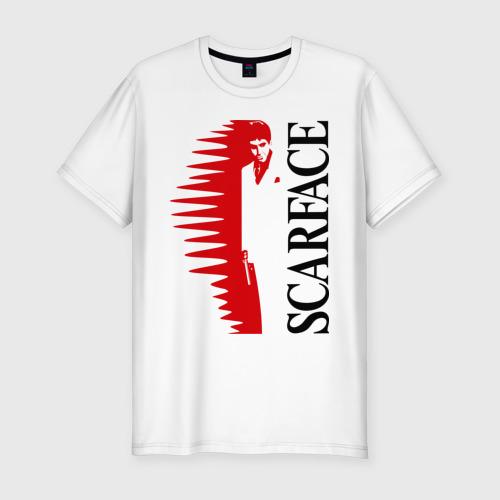 Мужская футболка премиум  Фото 01, Аль Пачино - Scarface (white)