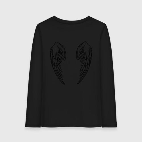 Женский лонгслив хлопок Крылья Ангела (2)