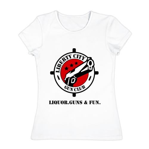 Женская футболка хлопок  Фото 01, Liberty City Gun Club