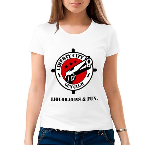 Женская футболка хлопок  Фото 03, Liberty City Gun Club