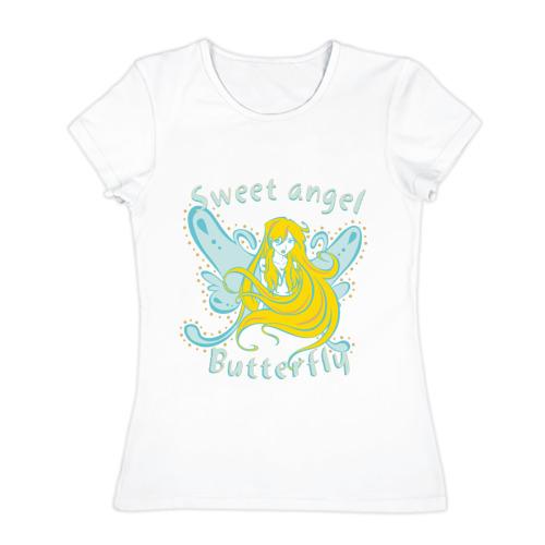 Женская футболка хлопок  Фото 01, Sweet angel (2)
