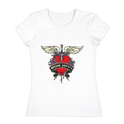 Женская футболка хлопок  Фото 01, Bon Jovi