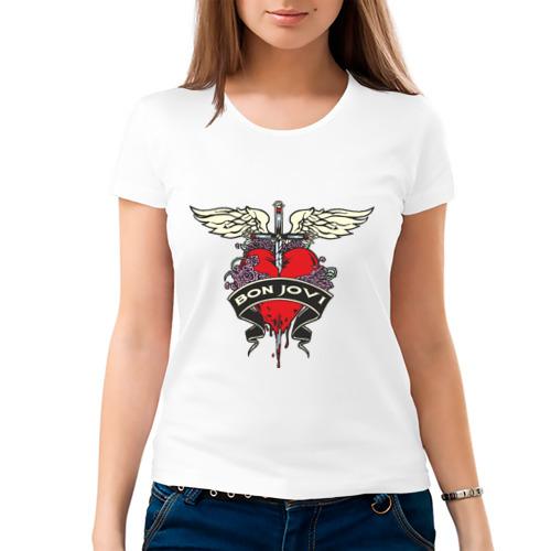 Женская футболка хлопок  Фото 03, Bon Jovi