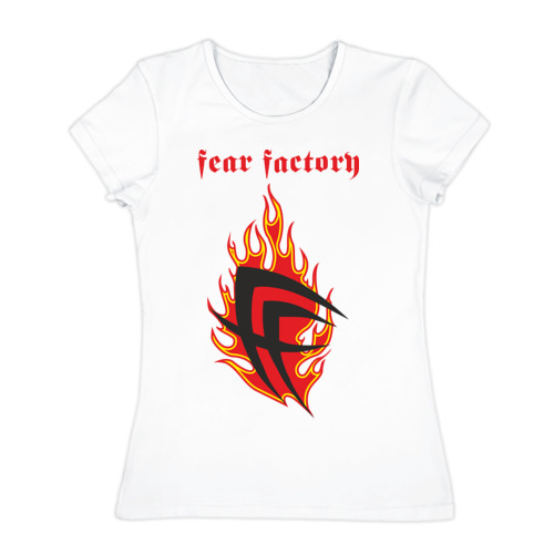 Женская футболка хлопок  Фото 01, Fear factory (2)
