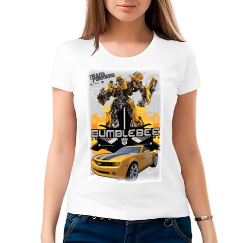 Женская футболка хлопок  Фото 03, Бамблби