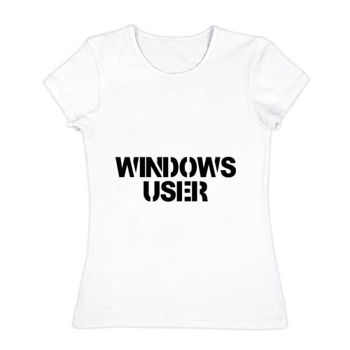 Женская футболка хлопок  Фото 01, Windows User