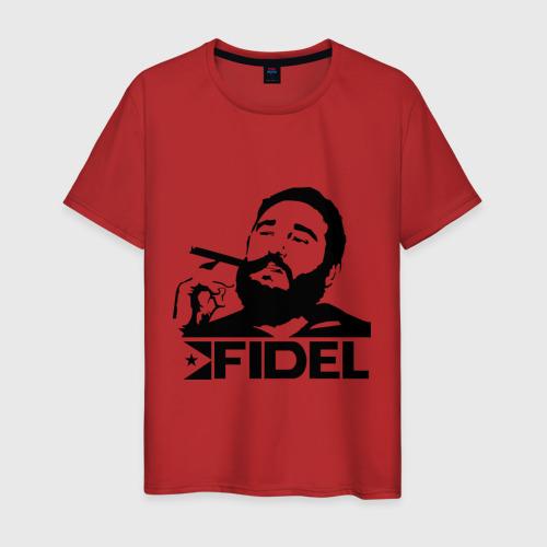 Мужская футболка хлопок Фидель Кастро Фото 01