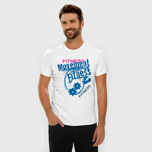 Мужская футболка премиум  Фото 03, Fitness Moveinent