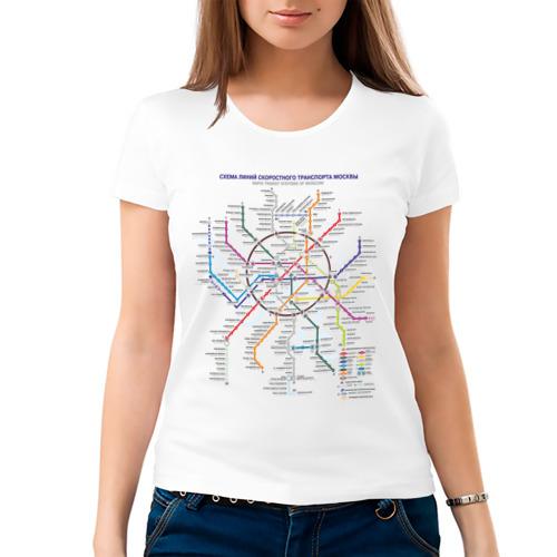 Женская футболка хлопок  Фото 03, Moscow metro