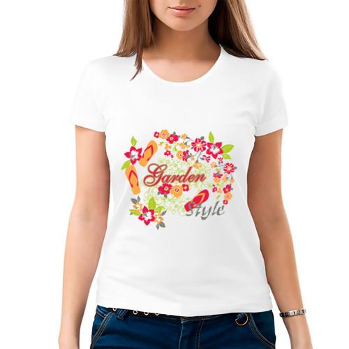 Женская футболка хлопок  Фото 03, Garden style (3)