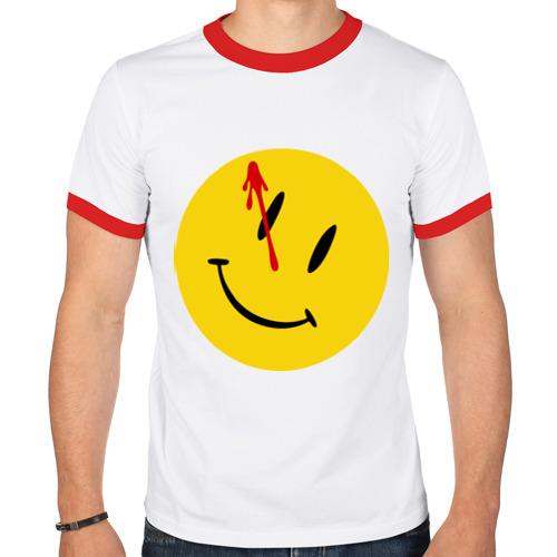 Мужская футболка рингер  Фото 01, Хранители - смайл с кровью