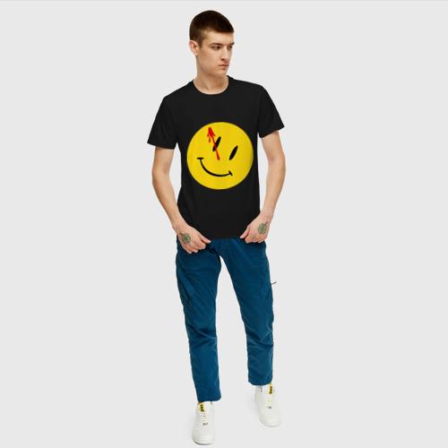 Мужская футболка хлопок Хранители - смайл с кровью Фото 01