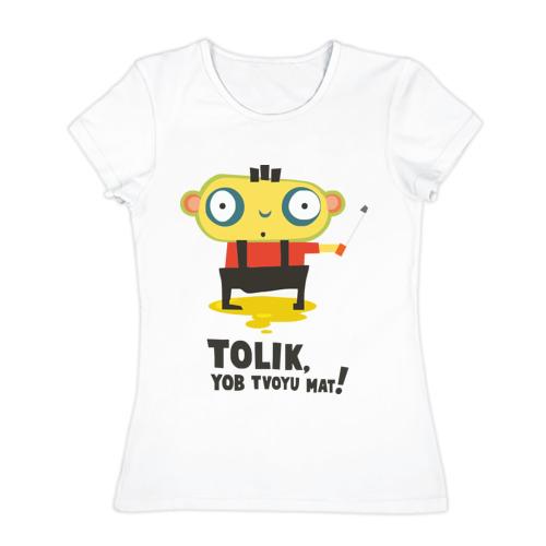 Женская футболка хлопок  Фото 01, Толик