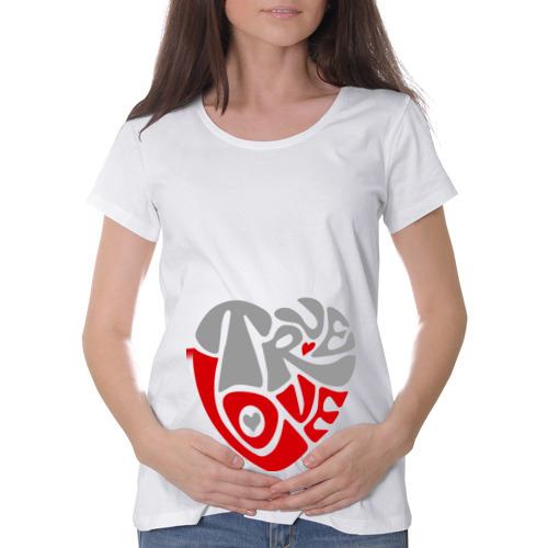 Футболка для беременных хлопок  Фото 01, True love сердце