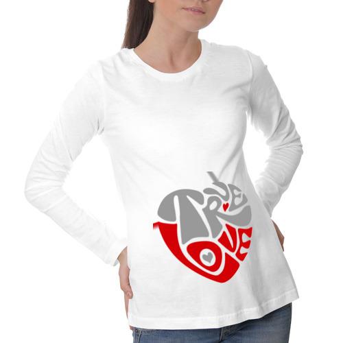 Лонгслив для беременных хлопок True love сердце