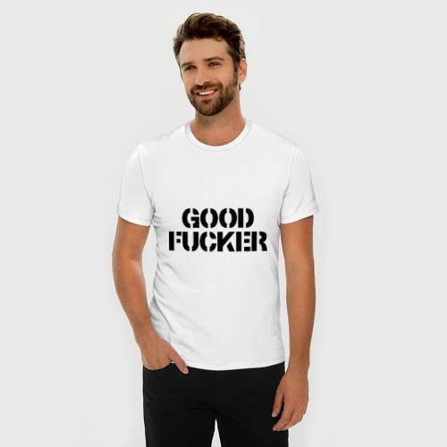 Мужская футболка премиум  Фото 03, Good fucker