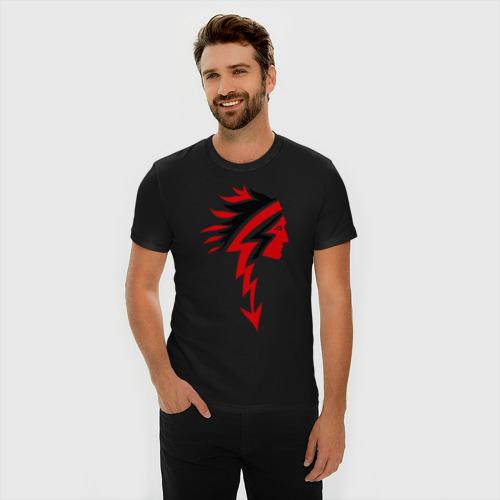 Мужская футболка хлопок Slim Индеец (3) Фото 01