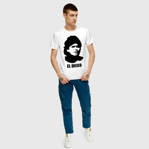 Мужская футболка хлопок Диего Марадона Фото 01