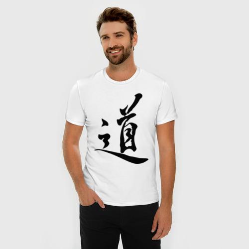 Мужская футболка премиум  Фото 03, Иероглиф Дао