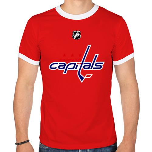 "Мужская футболка-рингер ""Washington Capitals Ovechkin"" - 1"