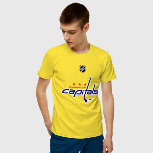 Мужская футболка хлопок Washington Capitals Ovechkin 8 Фото 01