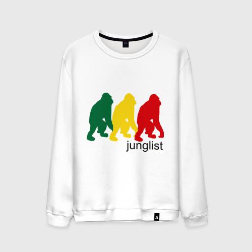 Мужской свитшот хлопок  Фото 01, Junglist - обезьяны