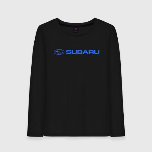 Женский лонгслив хлопок  Фото 01, Subaru (3)