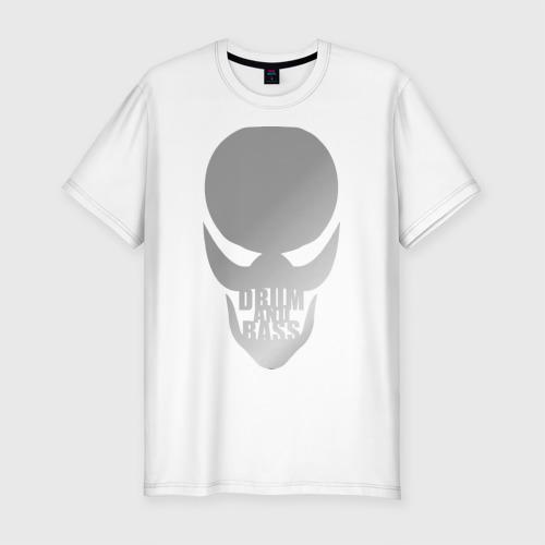 Мужская футболка премиум  Фото 01, Drum and bass(Серебро)