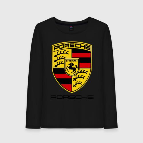 Женский лонгслив хлопок Porsche (2)