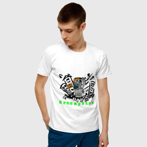 Мужская футболка хлопок Greenpeace (2) Фото 01