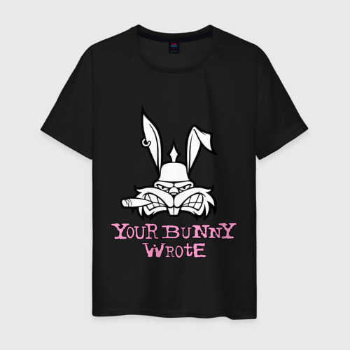 Мужская футболка хлопок Your Bunny Wrote Фото 01