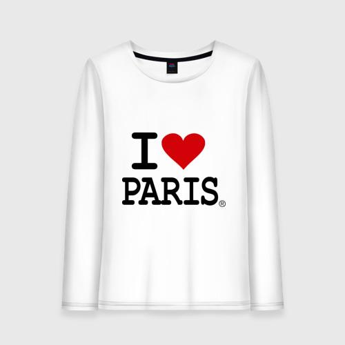 Женский лонгслив хлопок I love Paris