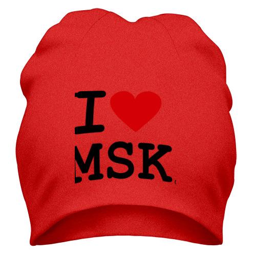 Шапка I love MSK (Moscow)