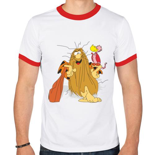 Мужская футболка рингер  Фото 01, Captain Caveman (2)