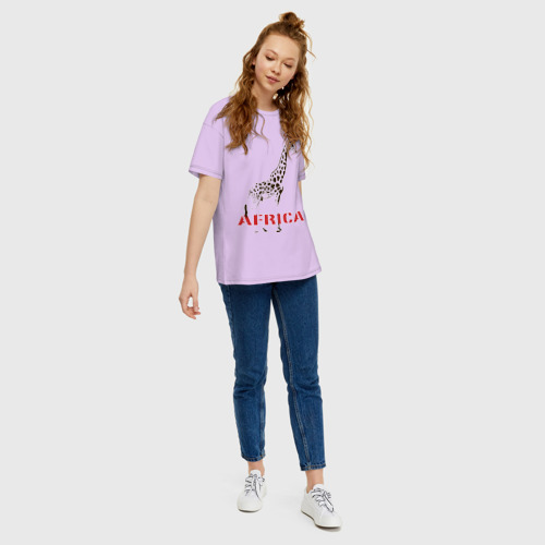 Женская футболка хлопок Oversize Africa Фото 01