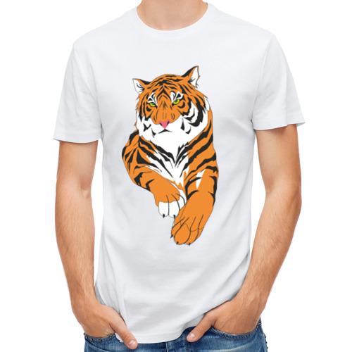 Мужская футболка полусинтетическая  Фото 01, Тигр (7)